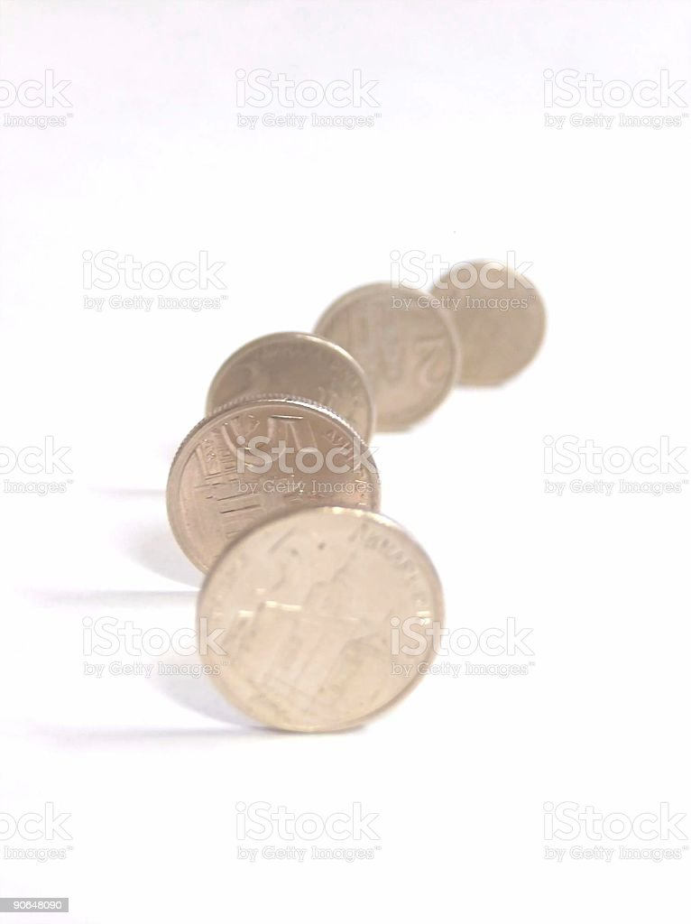 Dinar Coins stock photo