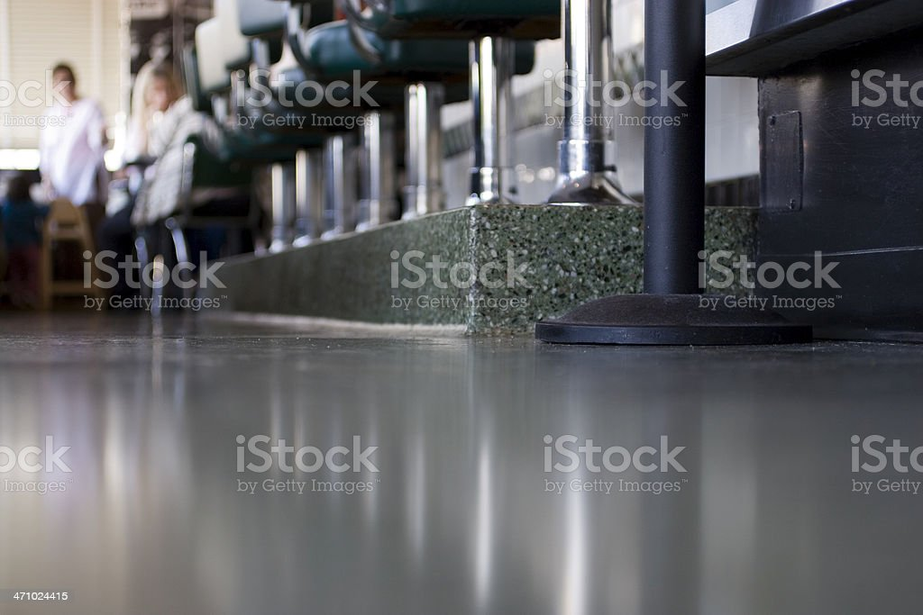 Diner: Floor stock photo