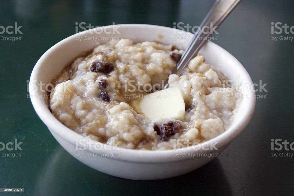 Diner: Hot Oatmeal royalty-free stock photo