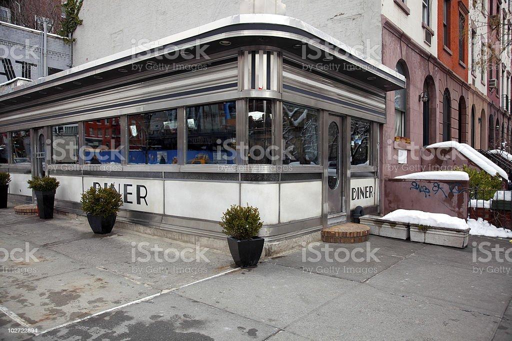 Diner in Manhattan stock photo