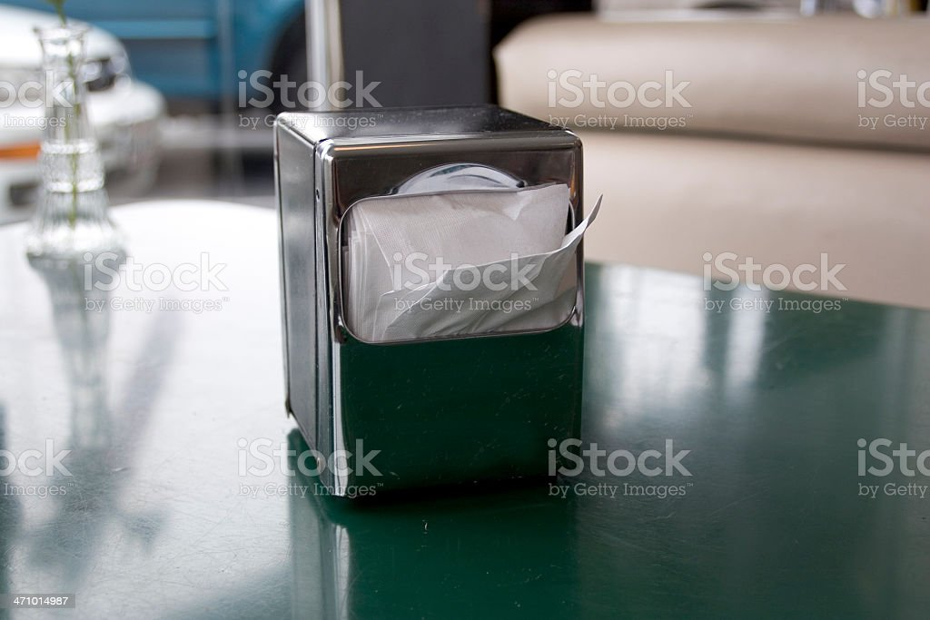 Diner: Napkin Dispenser stock photo