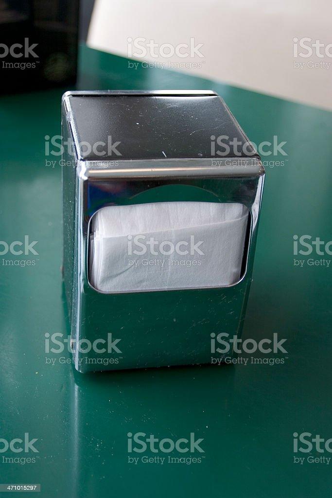 Diner: Napkin Dispenser Top View royalty-free stock photo