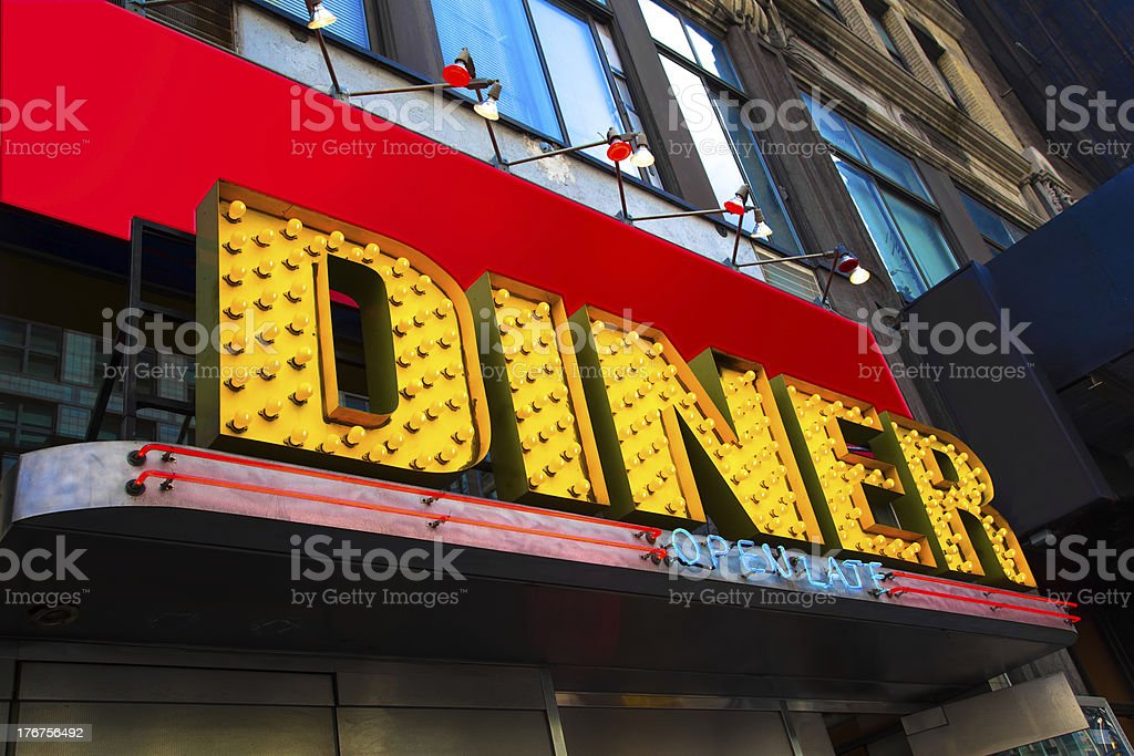 Diner Sign royalty-free stock photo