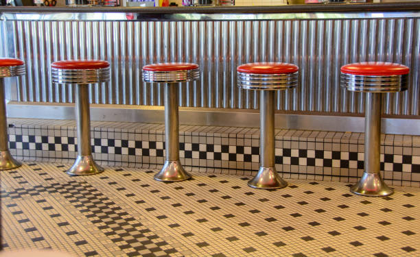 Diner Stools stock photo