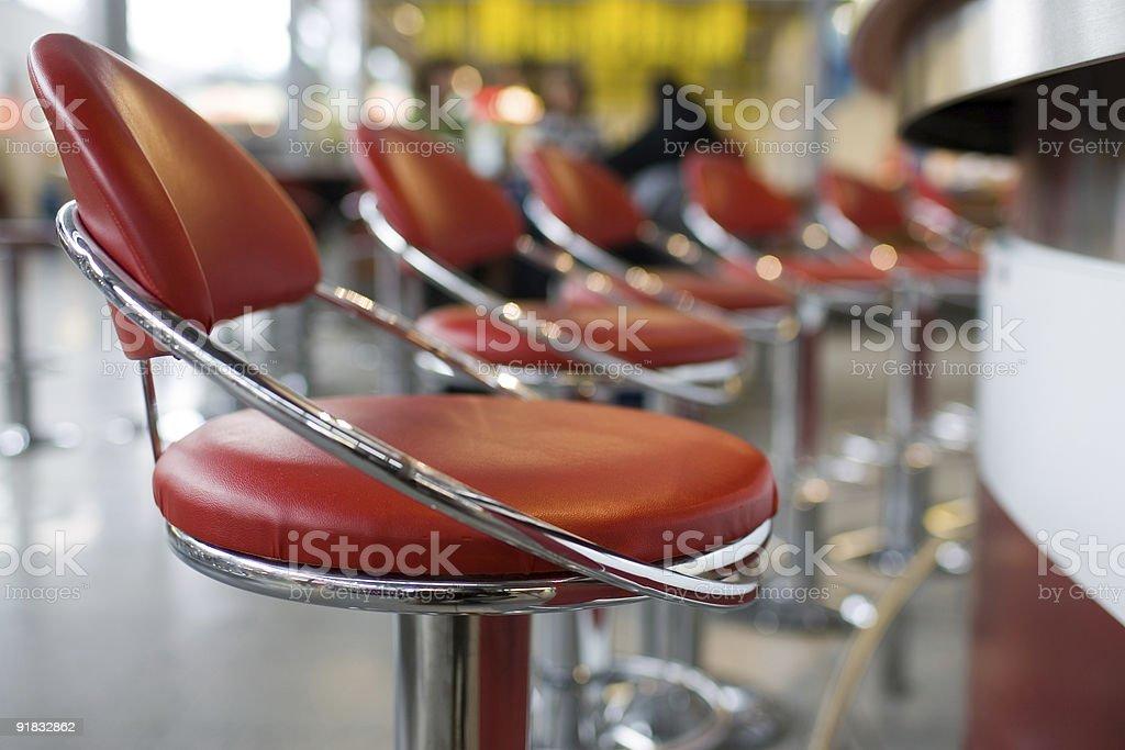 Diner stools royalty-free stock photo
