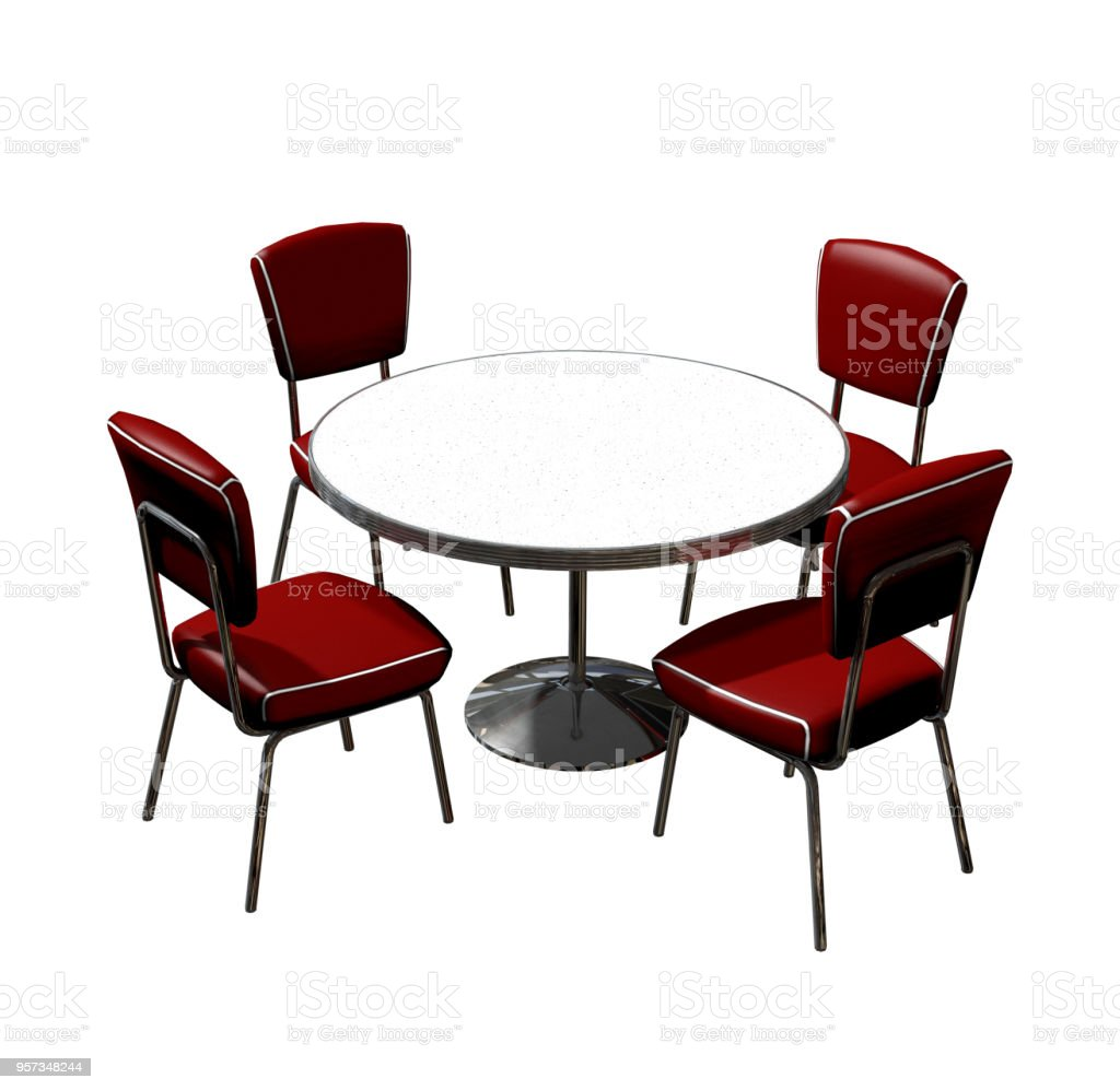 Diner Table Chairs Isolated Stock Photo Download Image Now Istock