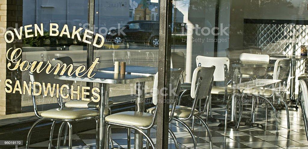 Diner Window stock photo