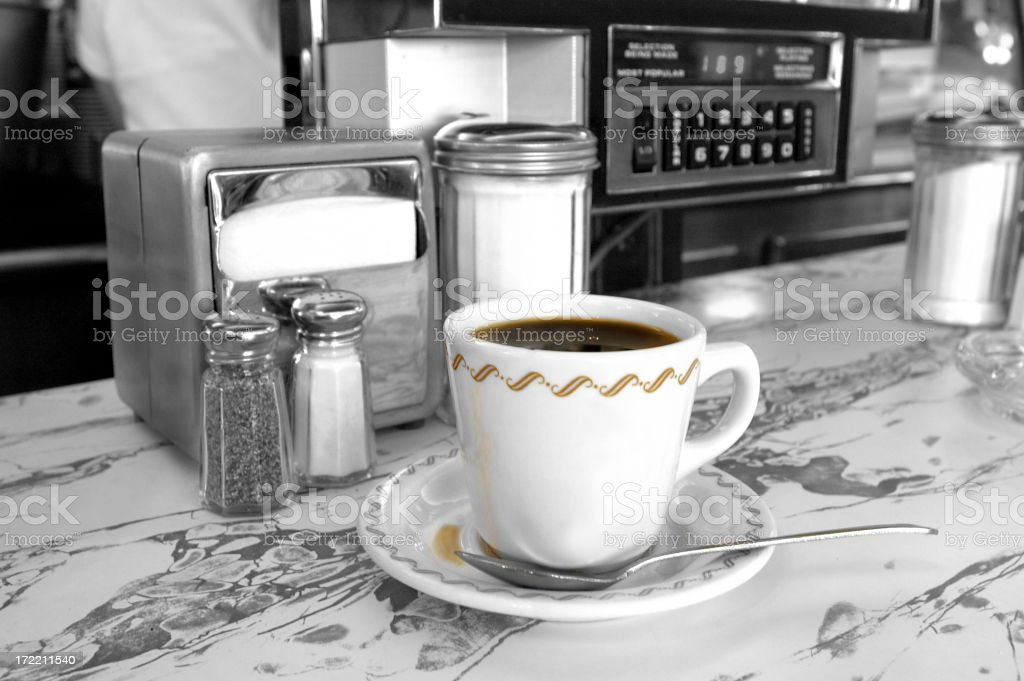diner-coffee royalty-free stock photo