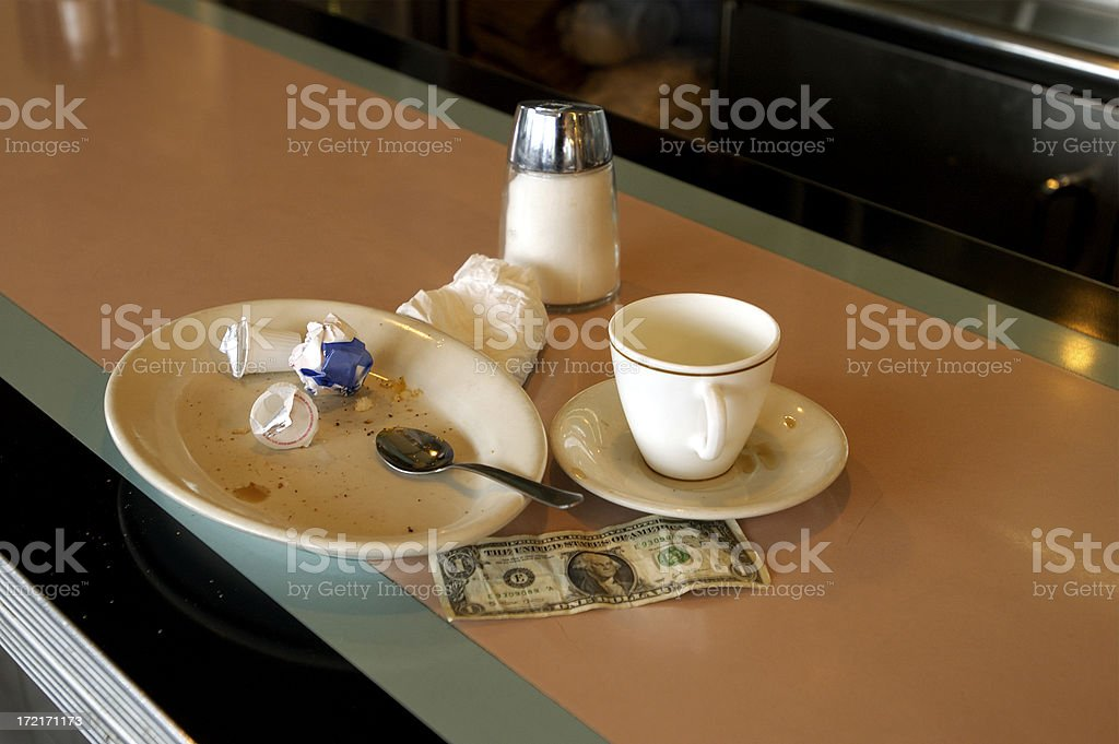 diner-In a hurry tip royalty-free stock photo