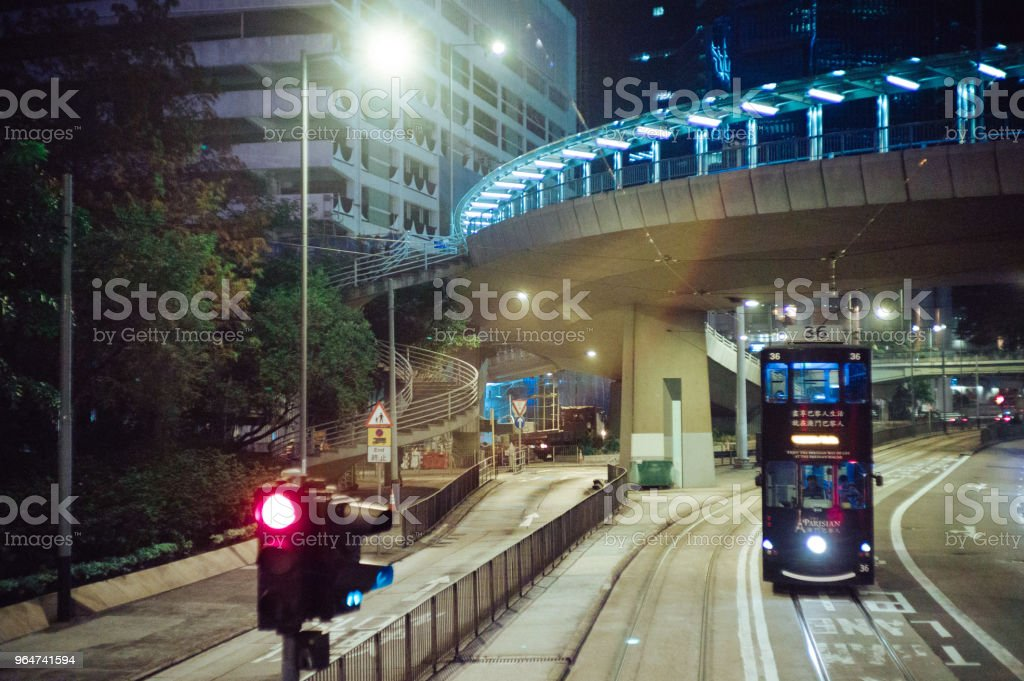 Ding Ding in Central Hong Kong royalty-free stock photo