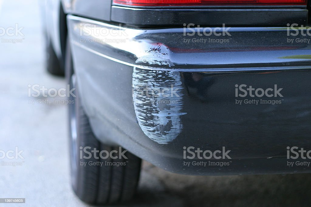 Dinged Bumper royalty-free stock photo
