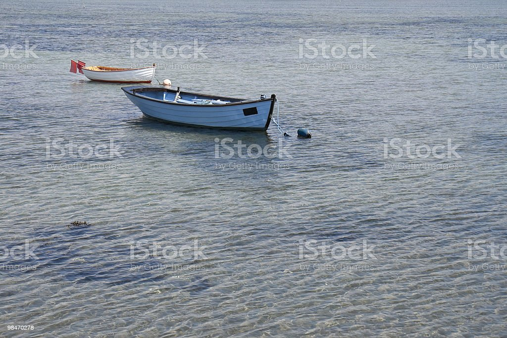 Dinghies in Shallow Water royalty-free stock photo
