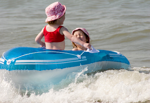 Dinghy Fun For Sisters Stock Photo - Download Image Now