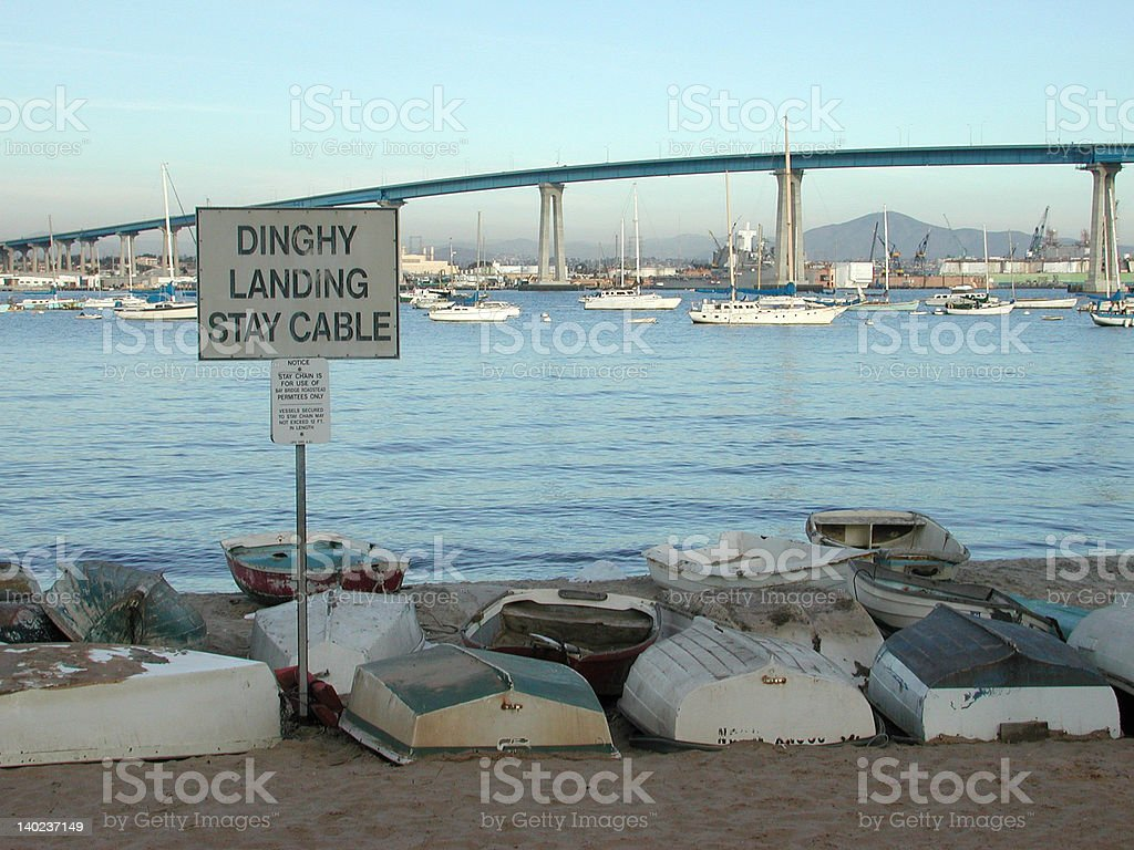 Dinghy Landing stock photo