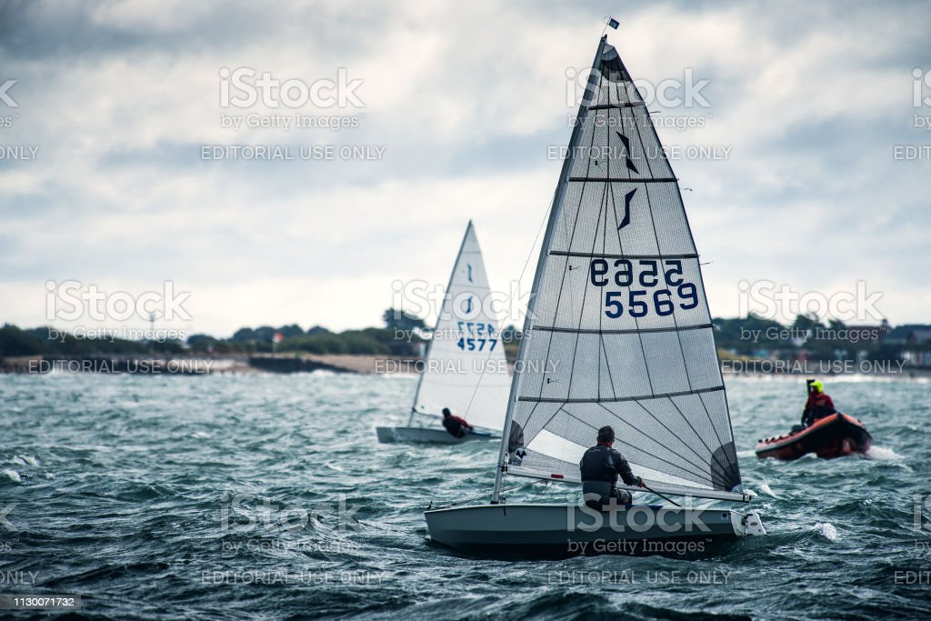 Dinghy Racing Hayling Island stock photo