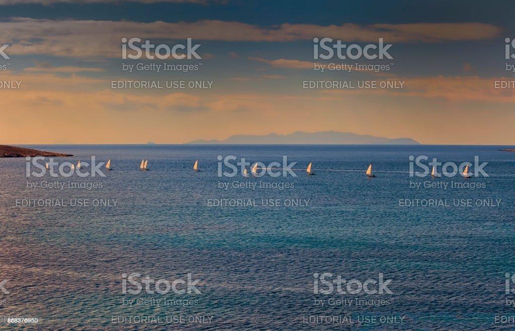 Dinghy Sailing Race. stock photo
