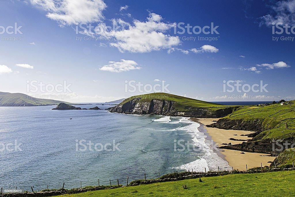 Dingle Peninsula Coast Panorama stock photo