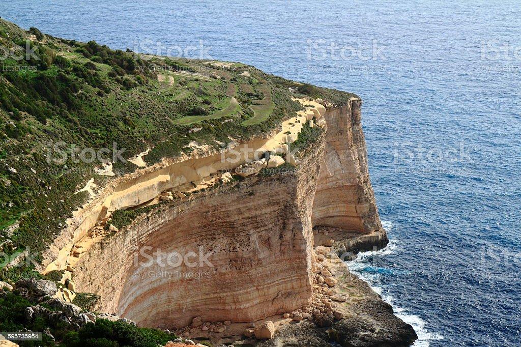 Dingli Cliffs, Malta stock photo