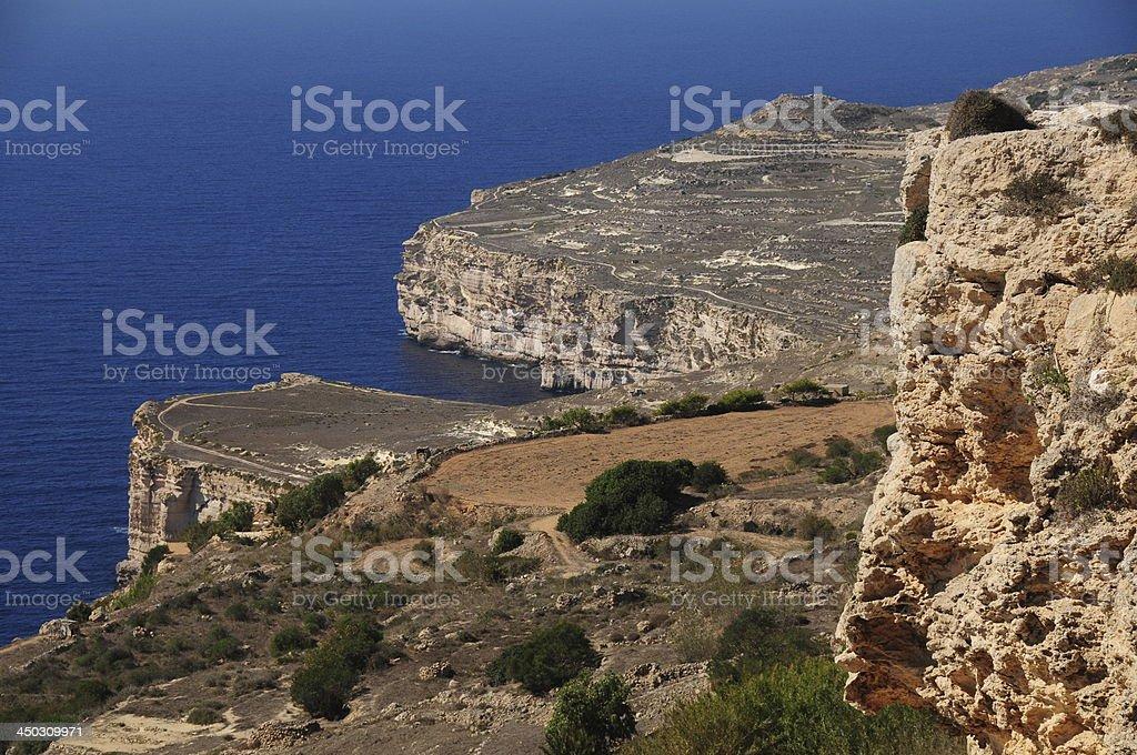 Dingli cliffs, Maltese Islands. royalty-free stock photo