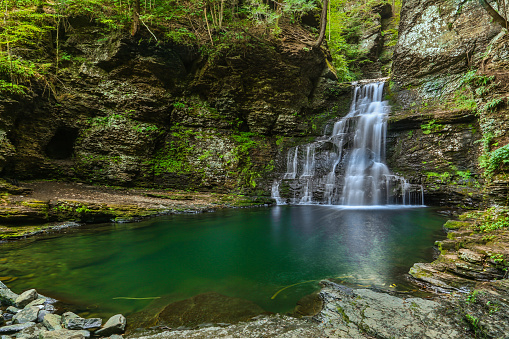 Color hdr image of Dingmans Ferry Falls