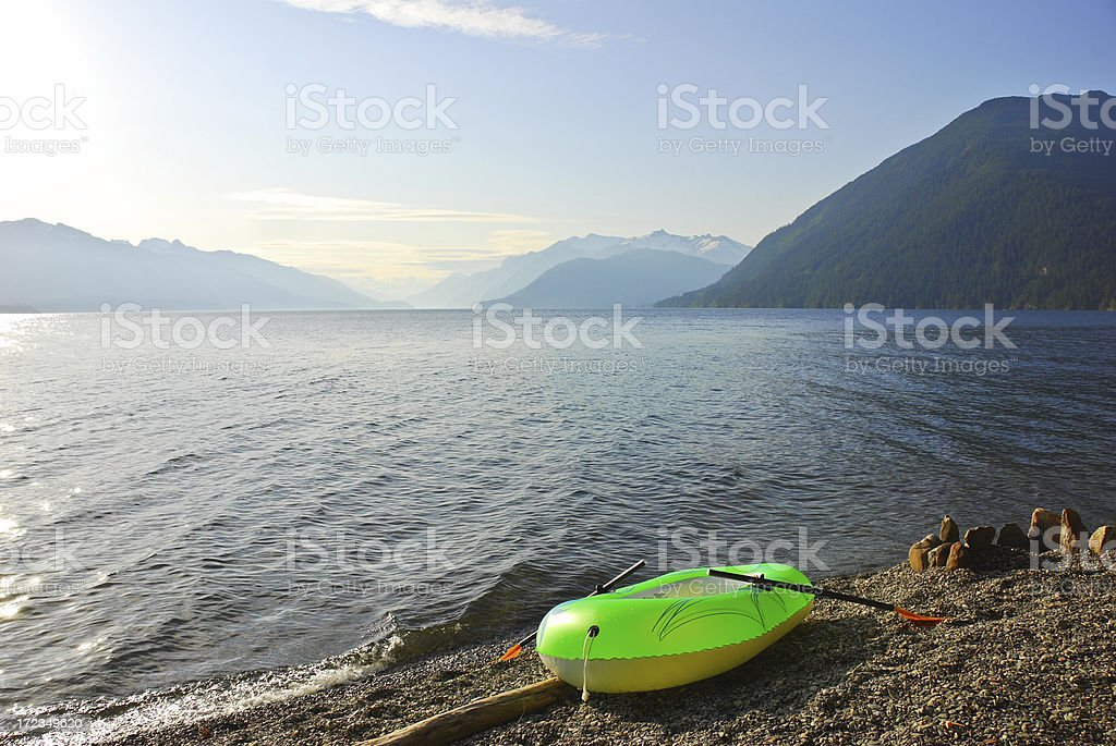 Dingy on Shore royalty-free stock photo
