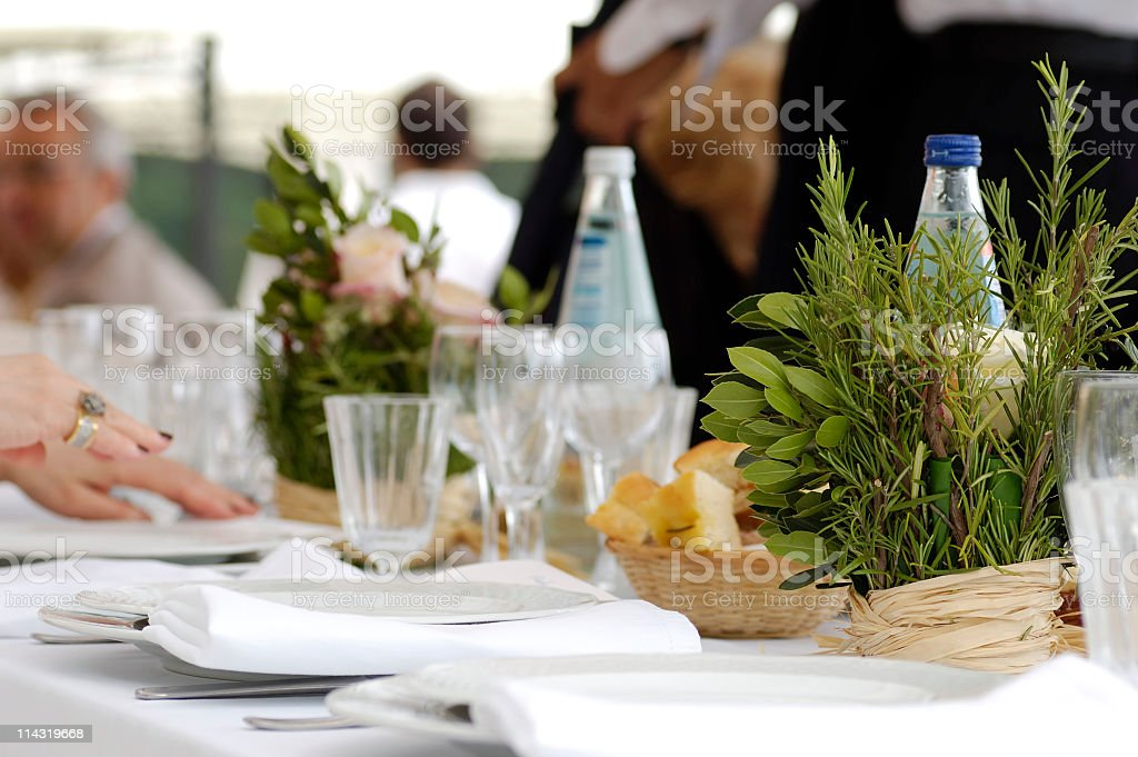 Dining Al Fresco royalty-free stock photo