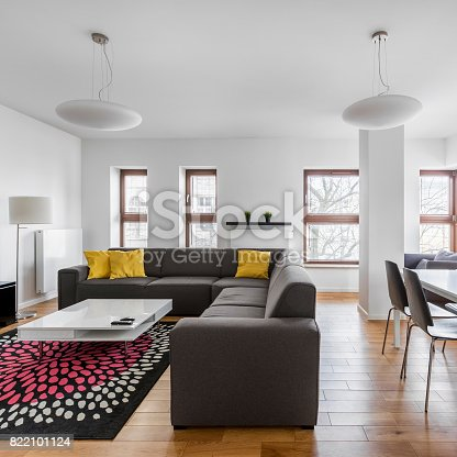 istock Dining and living room combined 822101124