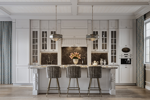 Digital image of a kitchen dining area