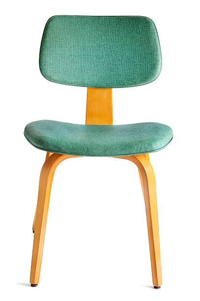essstuhl der stil der 50er jahre modernen möbeln, isoliert auf weiss - sessel türkis stock-fotos und bilder
