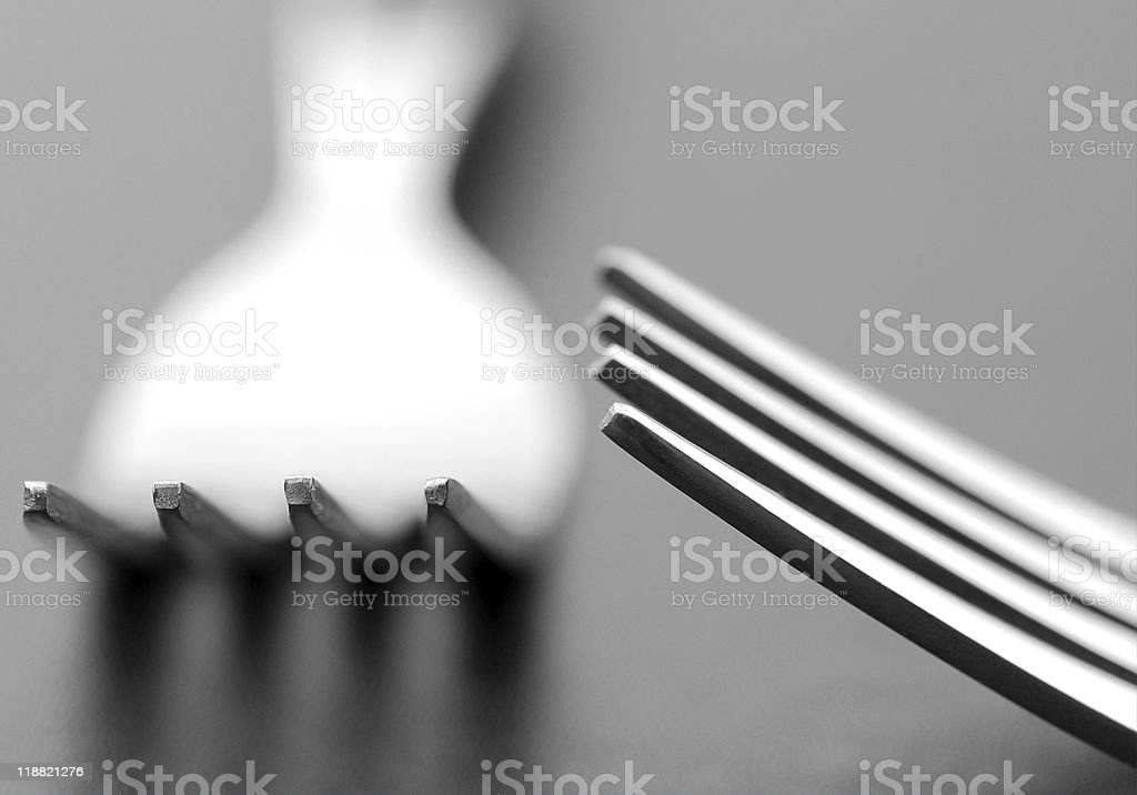 Dining forks royalty-free stock photo