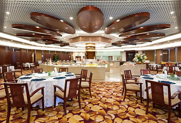 speisesaal im hotel - esszimmer buffet stock-fotos und bilder
