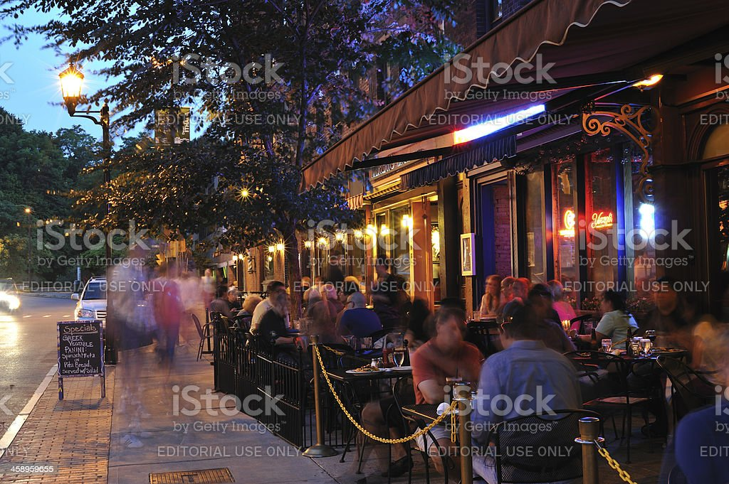 Dining Out in Ithaca royalty-free stock photo