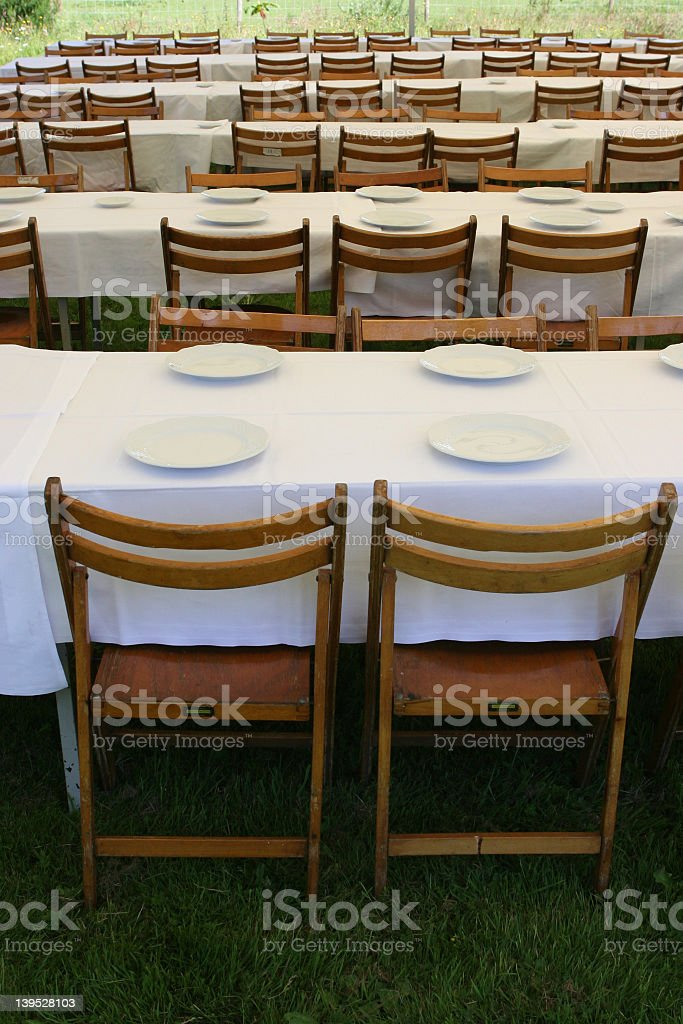 dining outside royalty-free stock photo