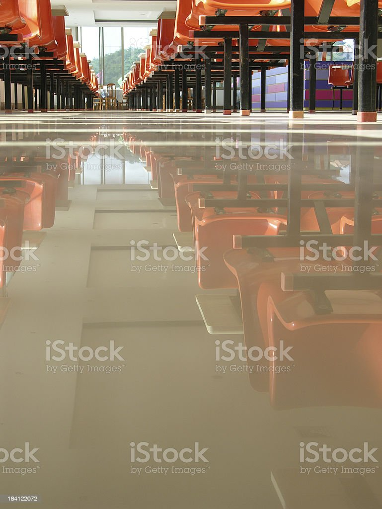 Dining place stock photo
