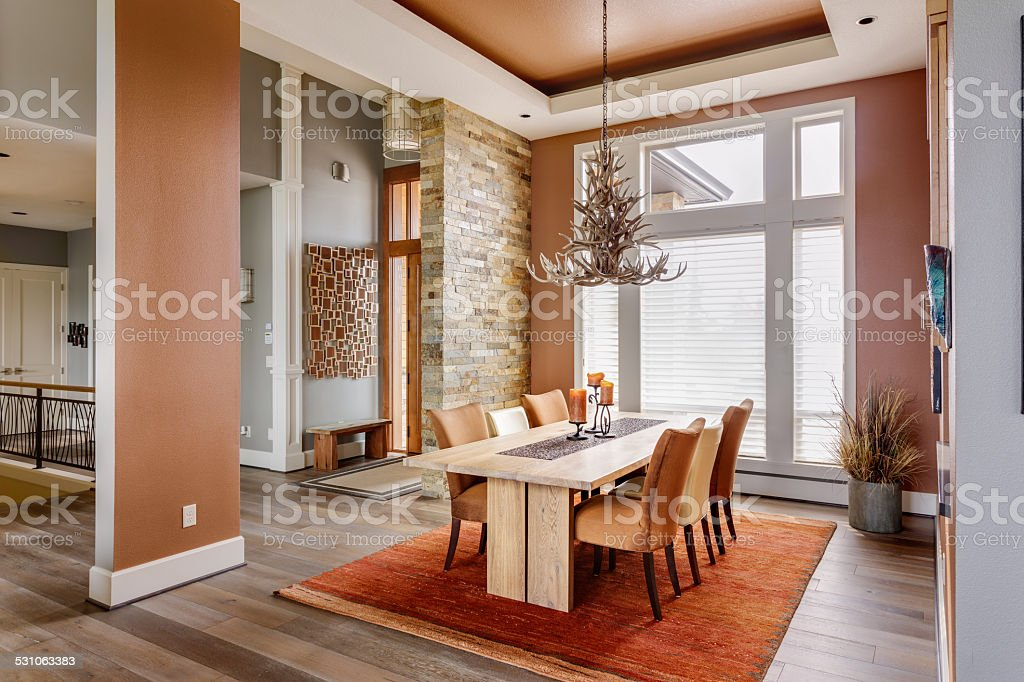 Dining Room with Entryway, Table, Elegant Light FixtureFurnished...