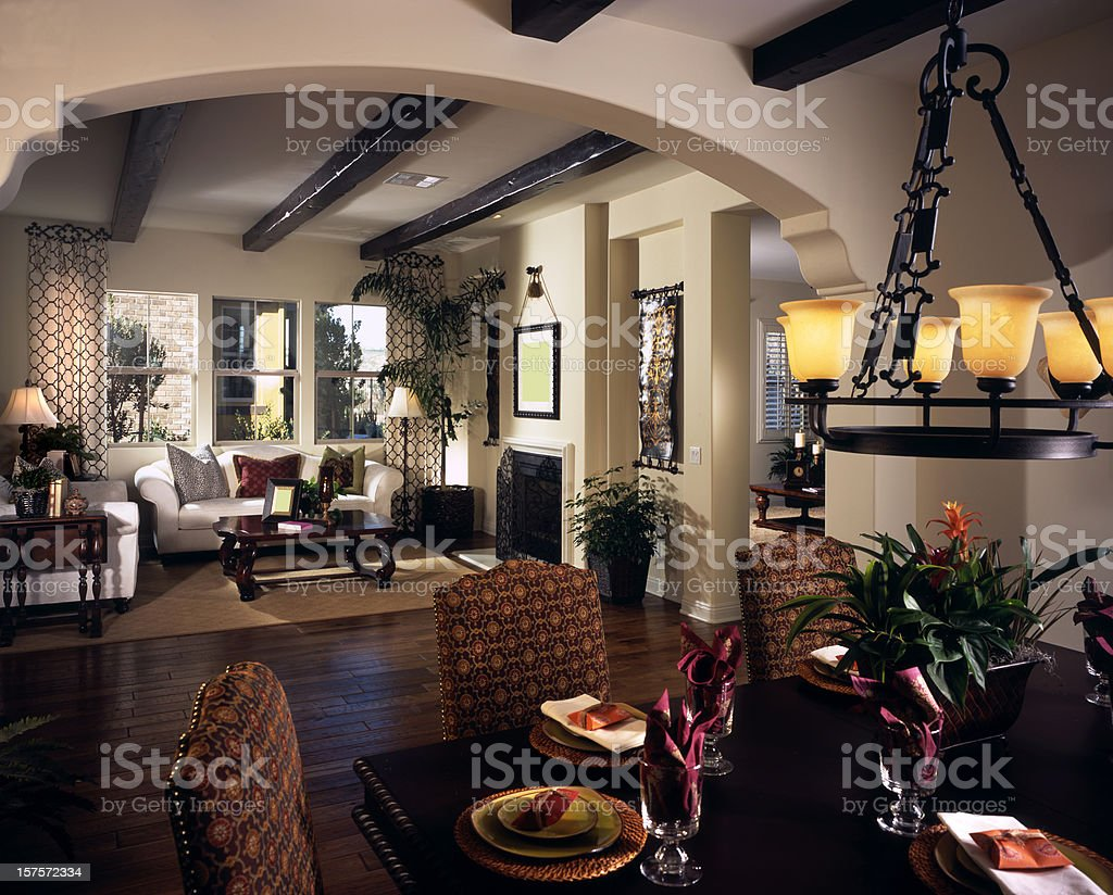Dining room Interior Design Home royalty-free stock photo