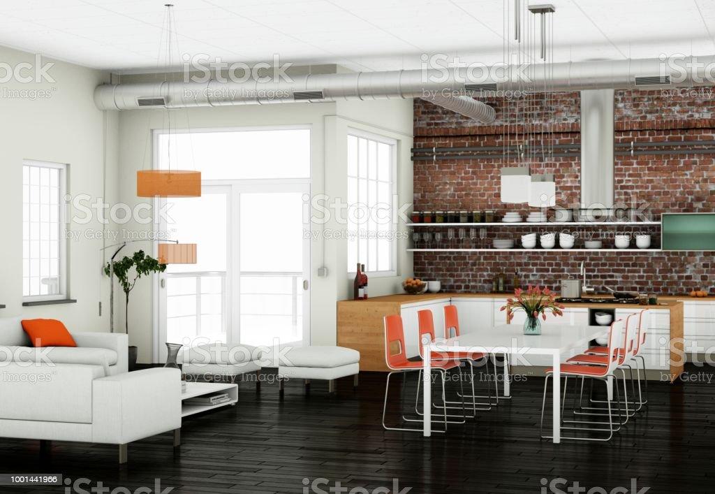 Diseño De Interiores Sala Comedor En Apartamento Moderno Foto de ...