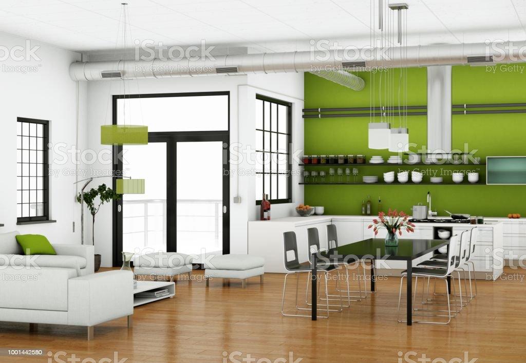 Diseño De Interiores Sala Comedor En Apartamento Moderno ...
