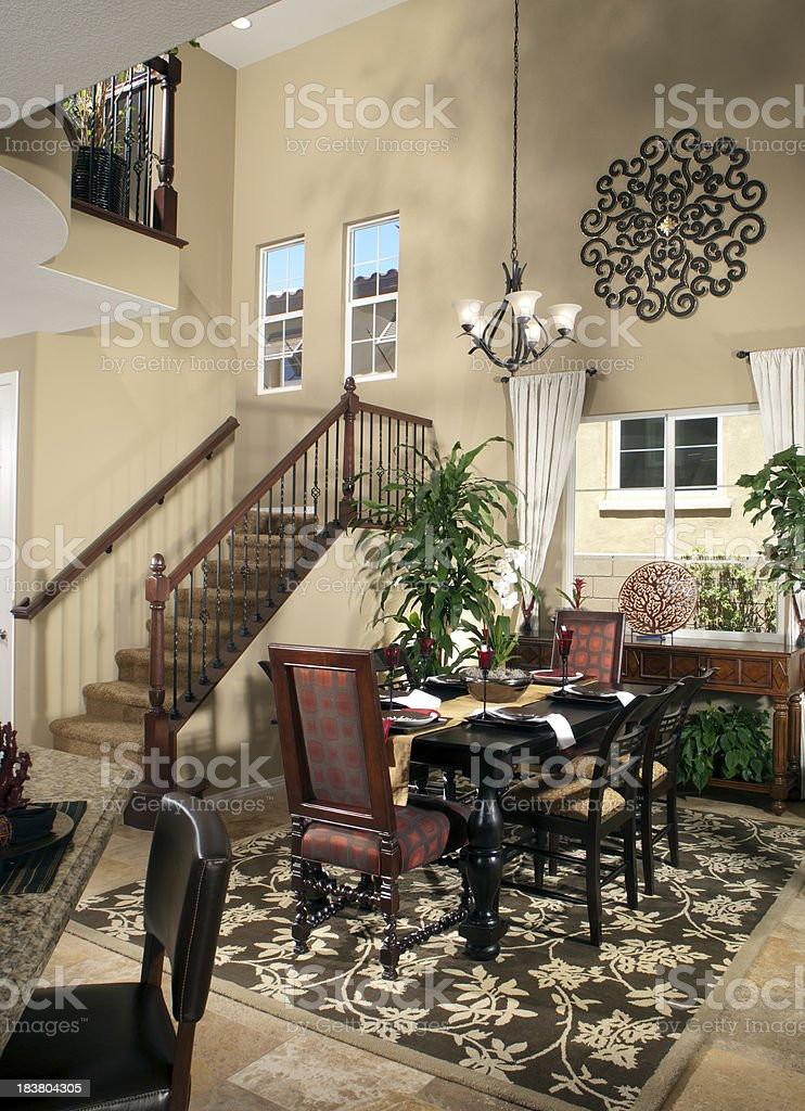 Dining room Interior House Design royalty-free stock photo