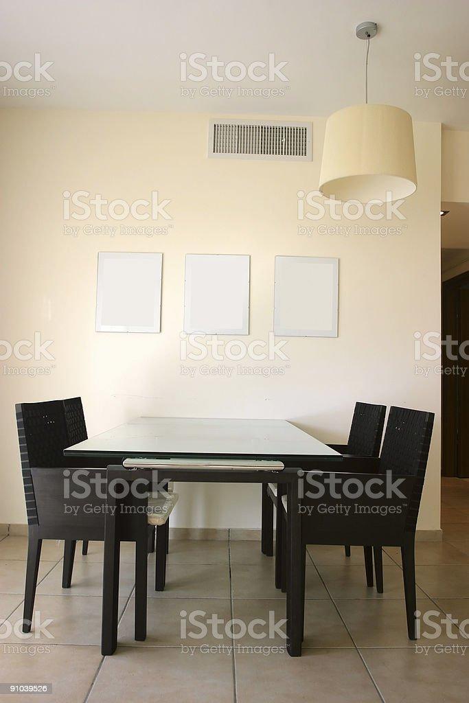Dining Room Interior royalty-free stock photo