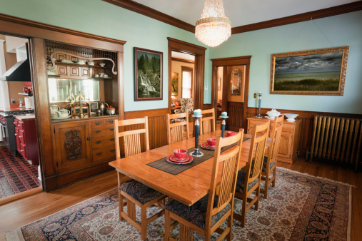 Dining Room of a Traditional Victorian Home Interior