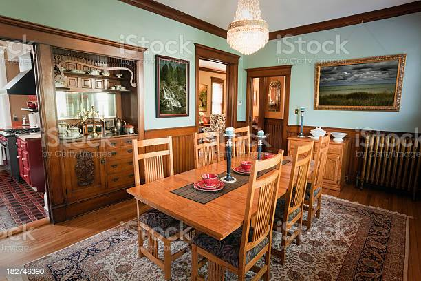 Dining Room Of A Traditional Victorian Home Interior Stock Photo Download Image Now Istock