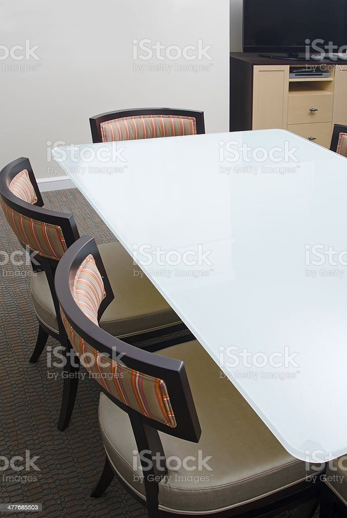 Dining Room Table and Chairs royalty-free stock photo