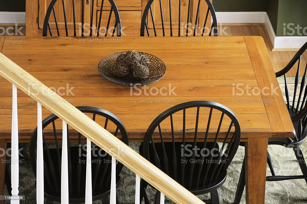 Dining Room Table Chair Furniture Decor royalty-free stock photo