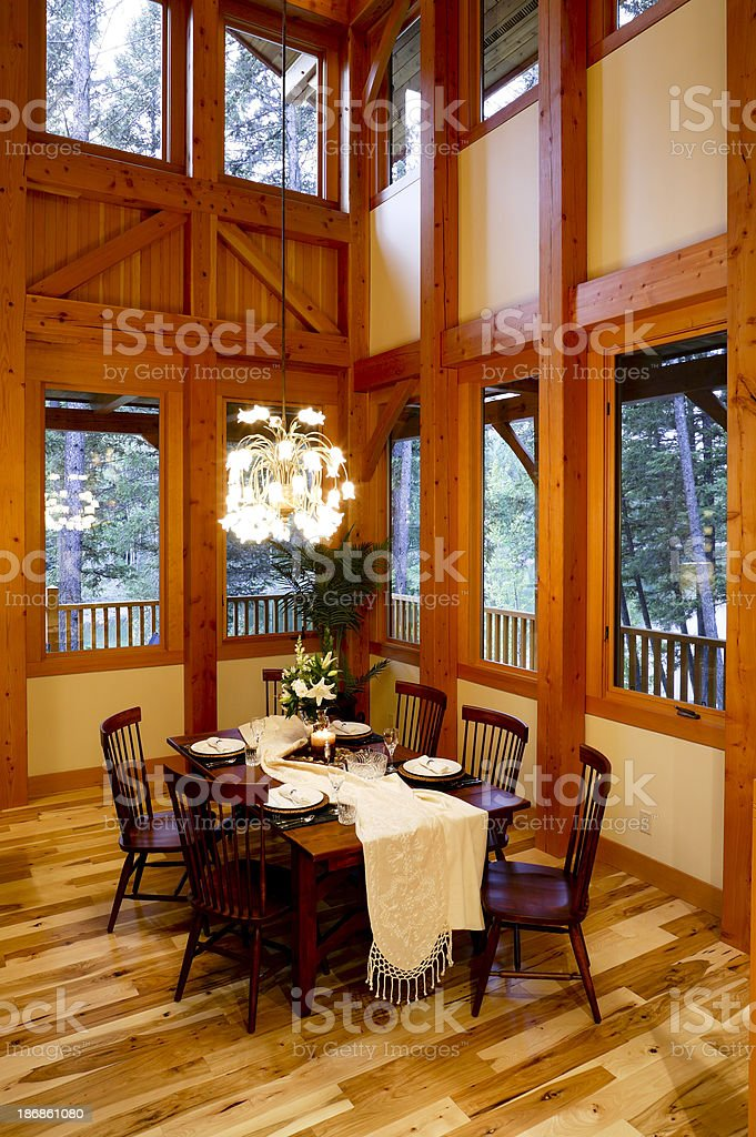 dining room table house wooden floor royalty-free stock photo