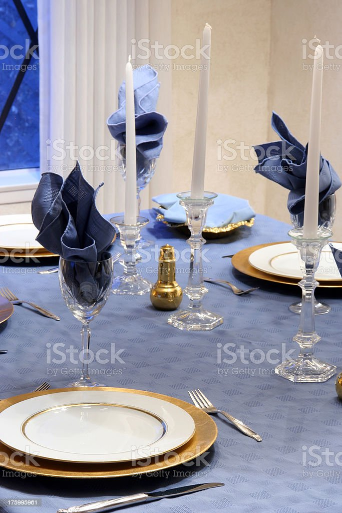 Dining Room Table Settings royalty-free stock photo