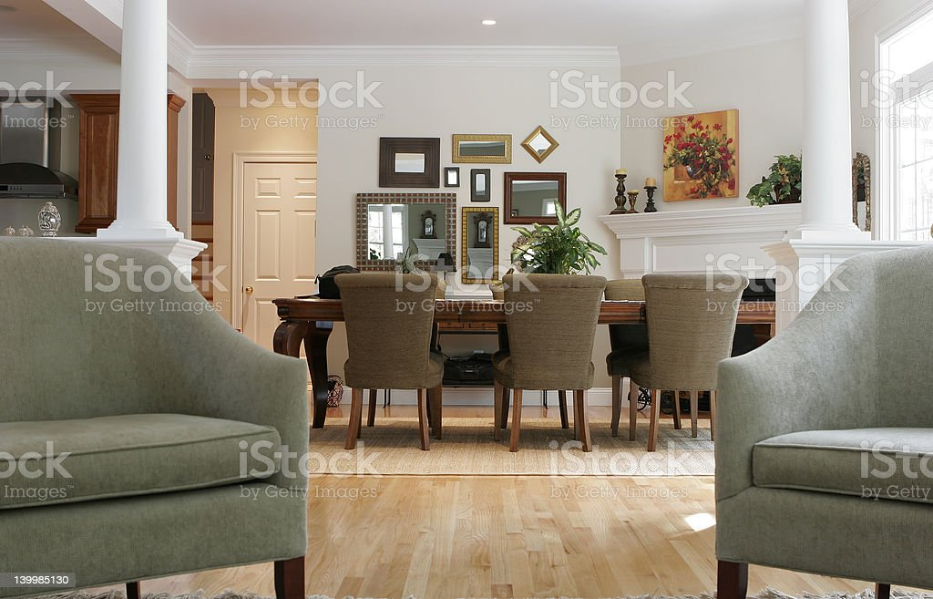 dining room view royalty-free stock photo