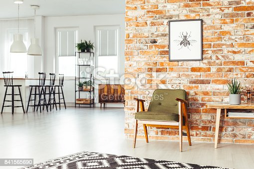 istock Dining room with rustic furniture 841565690