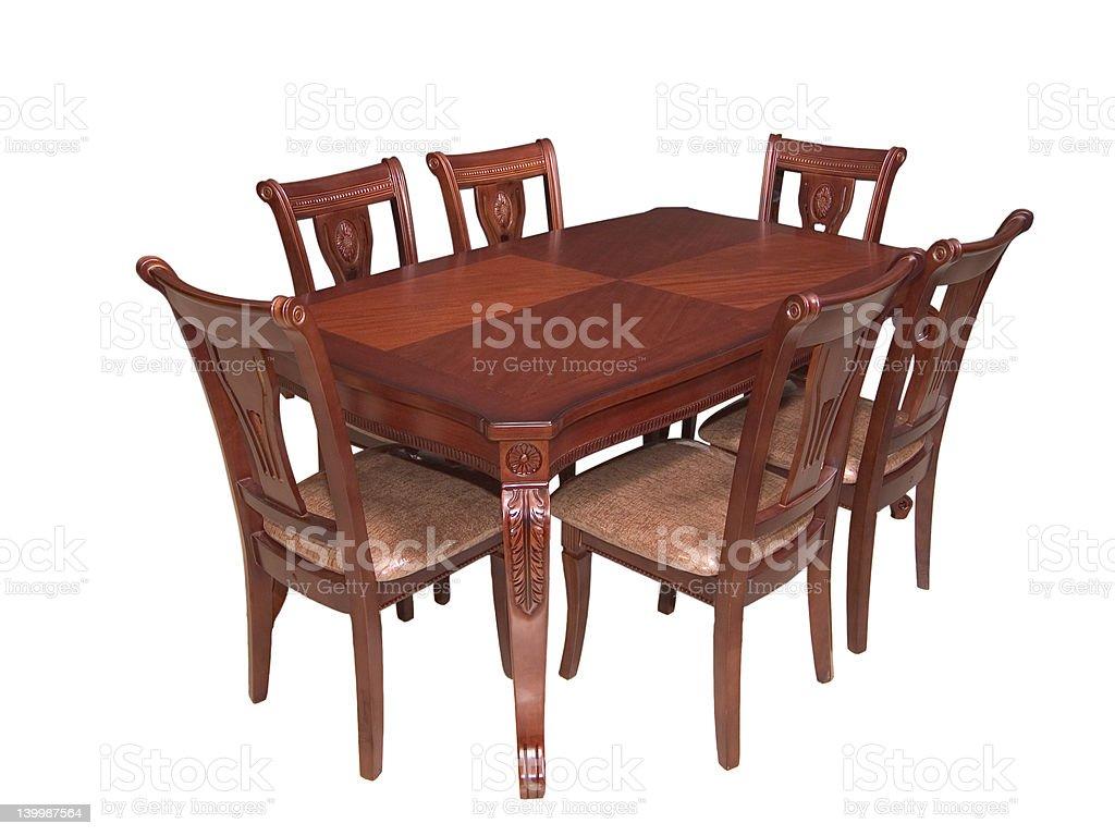Dining set royalty-free stock photo
