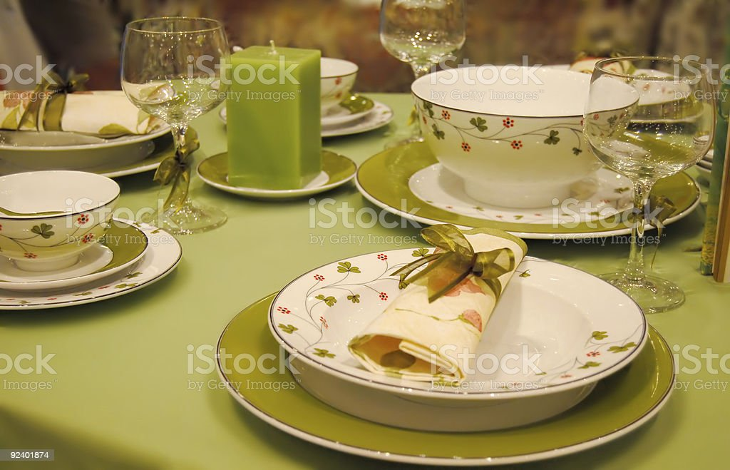 dining setting royalty-free stock photo